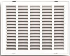 Truaire 190RF 25X16 Stamped Return Air Filter Grille, Removable Face, 25'' X 16'', White, 19'' x 1.75'' x 28'' by Truaire
