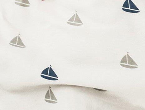 Woolino Baby Sleep Bag Or Sack by 4 Season Merino Wool Wearable Blanket Gown, 2-24 Months, Boats by Woolino (Image #1)