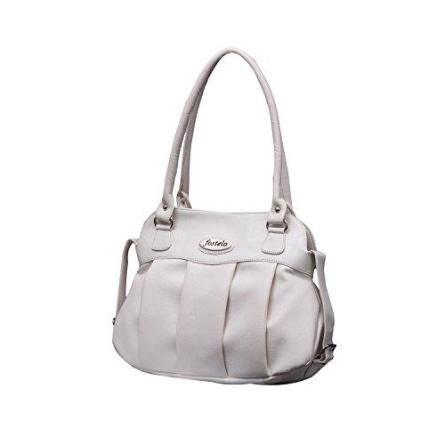 Fostelo Women's White Handbag ( White ,Fsb-178)