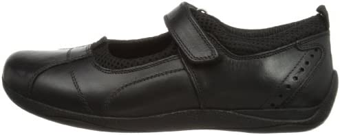 Hush Puppies Carousel Girls Black Leather School Shoe Size UK 5.5 \ EU 28.5