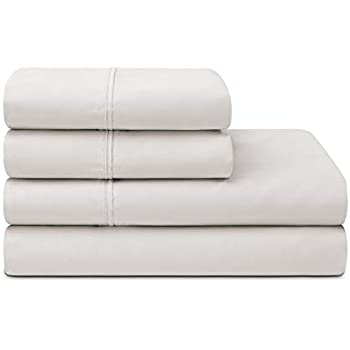Sleepletics Celliant Performance Sheet Set with 2 Pillowcases (Light Grey, Cal King 15'' Pocket Depth)