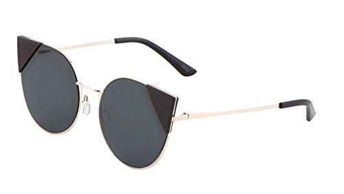 Womens Floral Aviator Sunglasses Flower Arms Fashion Eyewear (Gold/Black, - Aviators Rayband