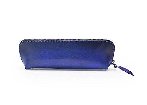NaXinF Portables Mädchen Federmäppchen Federmäppchen aus exquisitem Leder Handtasche (blau) B07GKLZVCY     | Online Outlet Shop
