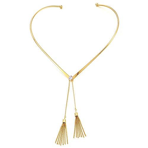 Choker Necklace Collar Dangling Tassel