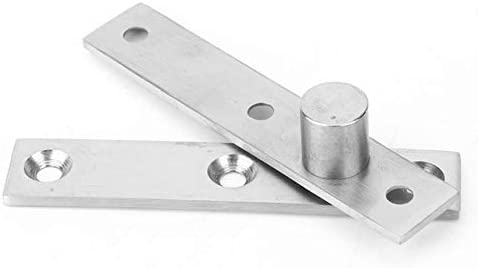 Furniture Hardware 2pcs 360 Degree Rotary Pivot Hinge Stainless Steel Rotating Door Hinge 95mm Long Furniture Hinge Color: Central Pivot