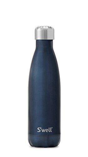 S'well Vacuum Insulated Stainless Steel Water Bottle, 17 oz, Blue Suede