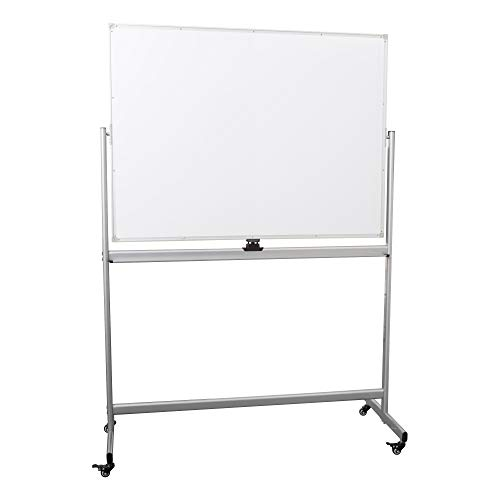 (Learniture Double-Sided Mobile Magnetic Marker Board, 4' W x 3' H, White, LNT-RCE-3048-PK-SO)