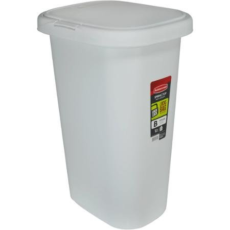 amazoncom rubbermaid spring top 52 quart trash can white home kitchen. Interior Design Ideas. Home Design Ideas