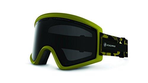 Veezee - Dba Von Zipper Cleaver Ski Goggles, Olive Satin Camo/Blackout/Bonus Bronze