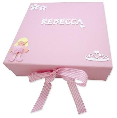 Baby Personalised Keepsake Box First Birthday Gift Christening