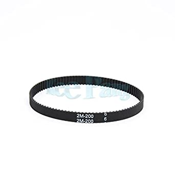 1x Black Rubber 6mm Width Closed Loop GT2 Timing Belts 3D Printer Accessories