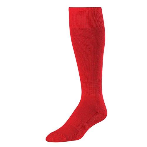 Junior H/T Baseball Socks, Scarlet, 6-8 1/2'' by TCK