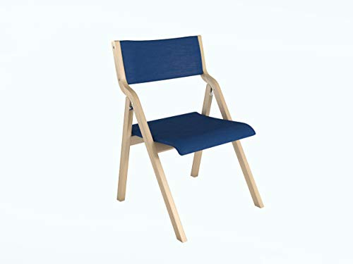 Lavi Furniture Office Furniture Wooden Chair Foldable Chairs for Home and Offices use (Blue)