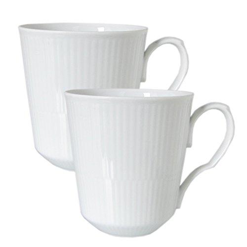 White Fluted 12.25 oz. Mug (Set of 2)