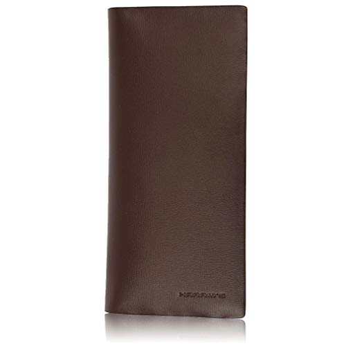 PU Matte Wallets for Men, Harrm's Brown Long Soft Slim Wallets New Year Gift for Men