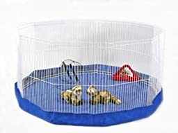 Prevue Pet Products SPV40098 Mat/Cover for 11-Panel Play Pen, Blue