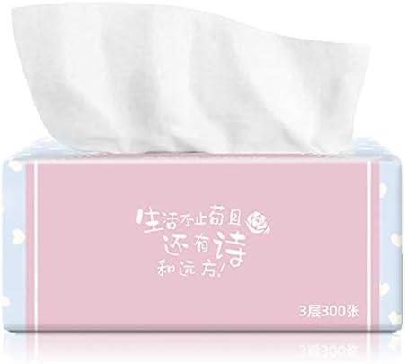 Deusa Ultra weiches 3-lagiges Gesichtstücher, Reisepackungen, 4 Packungen Gesichtstücher, 300 Tücher pro Packung, 1200 Taschen, insgesamt weich für Badezimmer