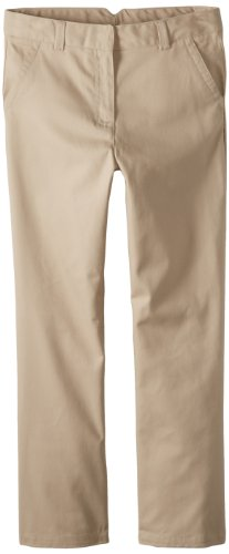 - Dockers Big Girls' Plus-Size Twill Straight Leg Pant, Khaki, 14.5