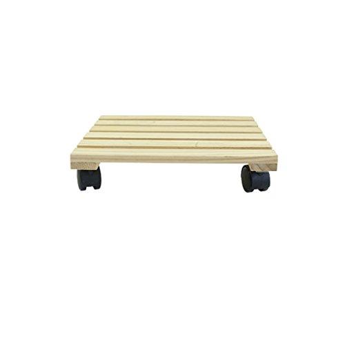 CJH Solid Wood Mobile Torus Flowerpot Floor-mounted Universal Wheel Indoor...