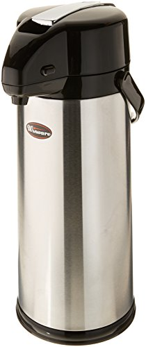 Winco Glass Lined Airpot, 3-Liter, Lever Top by Winco
