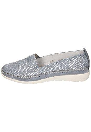D1902 Unique Fango Silver Mocassins Porzellan Taille Remonte Femme 12 Jeans 1wd0xq