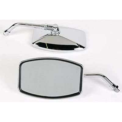 "Emgo Universal ""Big One"" Motorcycle Mirrors - Honda, Suzuki, Kawasaki: Automotive"