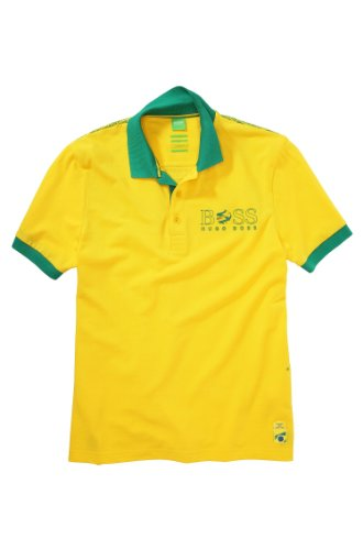 Regular Fit Piqué Polo Shirt 'Paddy Flag' By Boss Green Model Paddy Flag 50260461 (XL, YELLOW)