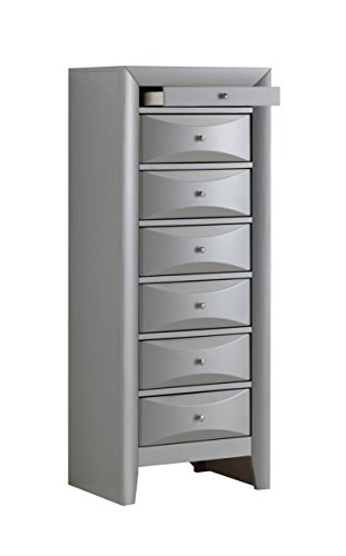 Glory Furniture G1503-LC 7 Drawer Lingerie Chest Silver 7 Seven Drawer Lingerie Chest