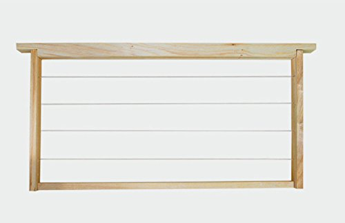 Beekeeping Tool Semi-finshed Bee Frame 49*23.5cm Iron wire and Wood Hive Nest Frame Durable Wood Beekeeping Tool by LEO_Garden