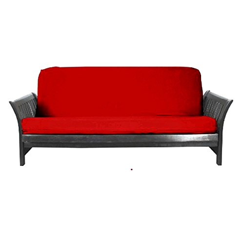 Magshion Fit 8~10 Inch Futon Mattresses Futon Cover Slipcover (Full (54x75 in.), Red)