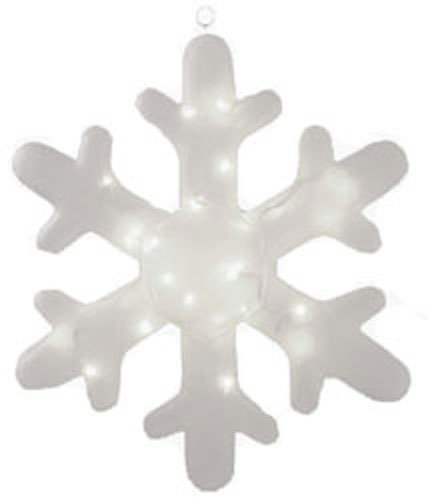Outdoor Lighted Snowflake Ornaments - 7