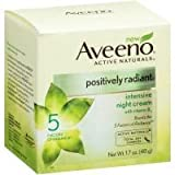 AVEENO Active Naturals Positively Radiant Intensive Night Cream 1.70 oz (Pack of 12)