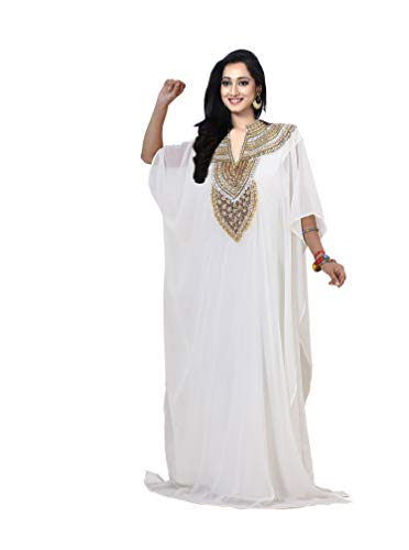 (KoC Women's Kaftan Maxi Dress Farasha Caftan)