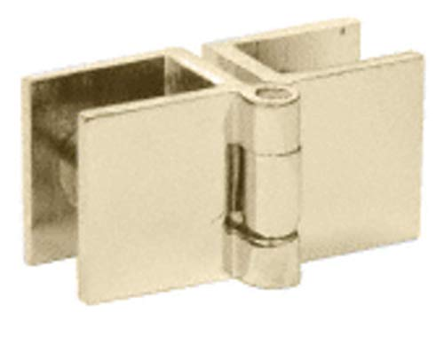 CRL Brass Finish Small Glass-to-Glass Out-Swing Set Screw Hinge - Package