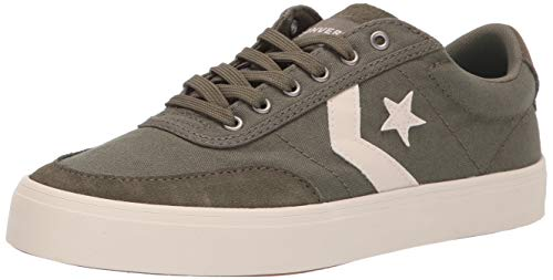 (Converse Men's Unisex Courtlandt Canvas Low Top Sneaker, Field Surplus/White 5.5 M US)