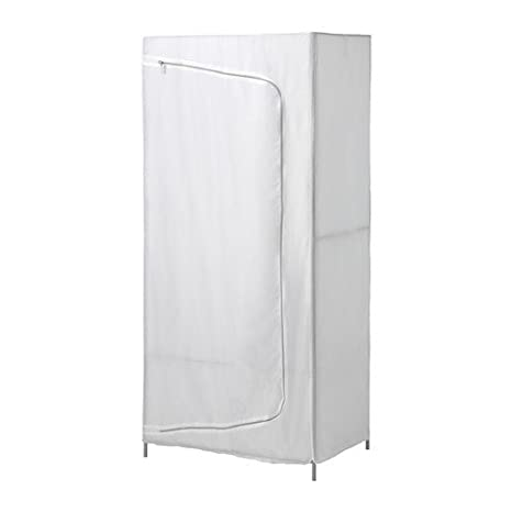 Ikea BREIM Armario en Blanco; De Tela; (80 x 55 x 180 cm ...