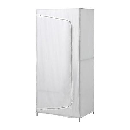 Armadietti In Plastica Ikea.Ikea Breim Armadio In Bianco In Tessuto 80 X 55 X 180 Cm