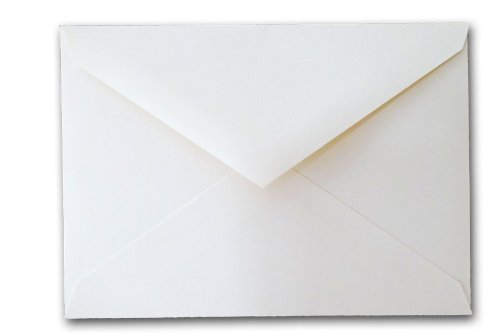 Leader Opaque White 5 1/2 Baronial Envelopes - 250 Envelopes White Baronial Envelopes