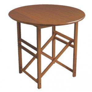 autentica mesa menorquina redonda mesa plegable redonda en madera para terraza y jardin en color