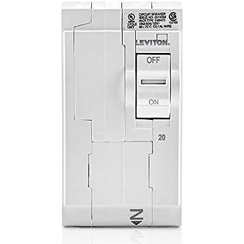 1-Pole Plug-on AFCI//GFCI Branch Circuit Breaker Leviton LB120-DF 20 Amp 120 VAC