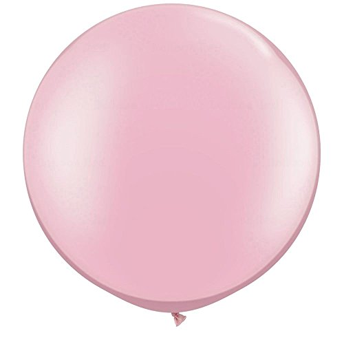 NYKKOLA 36 Inch Giant Latex Balloon (Premium Helium Quality),6 Pack Big LightPink Balloons