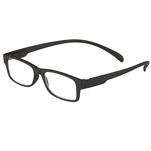 I Heart Eyewear Jasper Neck Hanging Reading Glasses, Black, 1.5