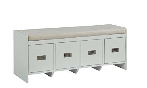 Acme Furniture 96775 Berci White Bench with Storage