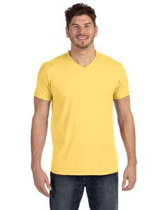 - Hanes Men's Cotton Nano V-Neck T-Shirt,Vintage Gold,Large