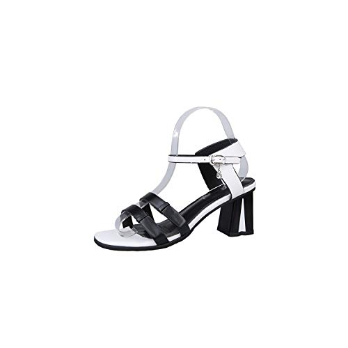 High Heels Sandals Women Square Heel Sexy Crystal Shoes Platform Wedges Open Toe Shoes,Black,5
