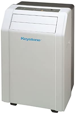"Keystone KSTAP12A 12,000 BTU 115-Volt Portable Air Conditioner with ""Follow Me"" LCD Remote Contro"