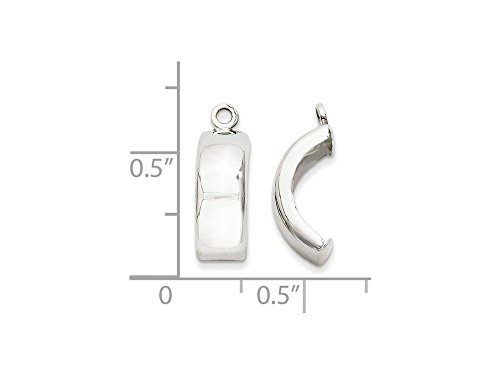 Finejewelers 14k White Gold Polished Earring Jackets by FJC Finejewelers (Image #1)