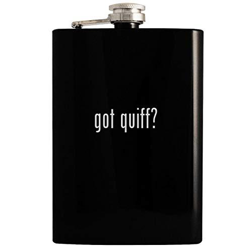 got quiff? - Black 8oz Hip Drinking Alcohol Flask