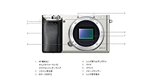 Sony Alpha a6000 Mirrorless Digital Camera - Body only (Silver) - International Version (No Warranty)