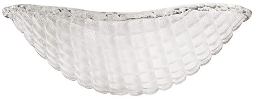 Piastra Glass Ceiling Light - Kichler 340108, Piastra White Sand Crystal Glass Bowl